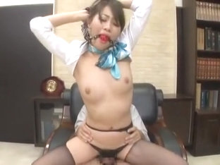 Crazy Japanese slut Aoki Misora in Hottest Threesomes, Secretary JAV clip