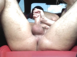 Risky Public Fun: Outdoor prostate stimulation makes his thick cock explode