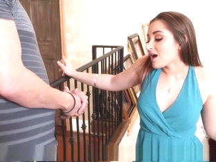 Dani Daniels takes his warm load in her all natural vagina