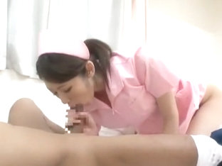 Horny Japanese chick Ai Uehara, Mio Kuraki, Himari Seto in Crazy Nurse/Naasu, Stockings/Pansuto JA.