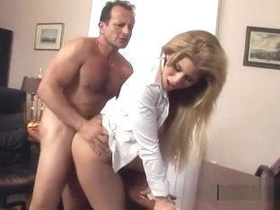 Charming Brooklyn Lee is giving a blowjob