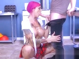 Chesty Teacher Anna Bell Peaks Worships Students Cock