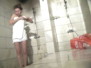 Hot Russian Shower Room Voyeur Video  5