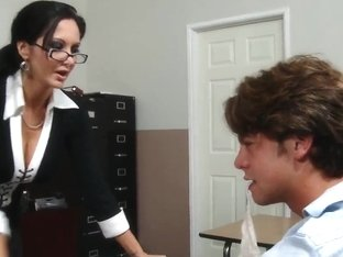 Milf Ava Addams teaches her student Seth Gamble howto fuck