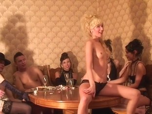Anne & Carolina & Emmy & Janet Haven & Sweet Lana & Logan in group fucking with lots of naked stud.