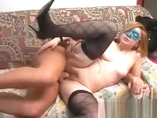 Shy Woman Being Pounded On Her Couch