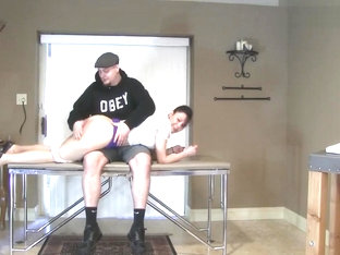 Audrey Spanked and Diapered by Dominic King - ABDL