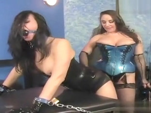 Jewell Marceau in a latex bondage game