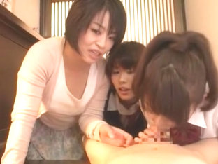 Horny Japanese girl Mai Asahina, Misaki Oishi, Saki Hanma in Fabulous Cunnilingus, Teens JAV movie