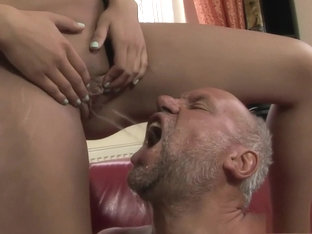 Horny older dude wants to fuck a young blonde and get piss in his mouth