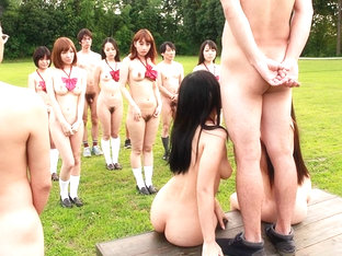 Punishment At Nude School Day For Aya Hoshizaki And Mayu Otsuka - JapanHDV