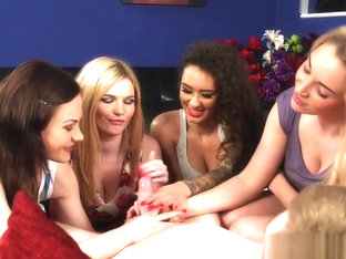 British Cfnm Beauties Cocksucking And Jerking