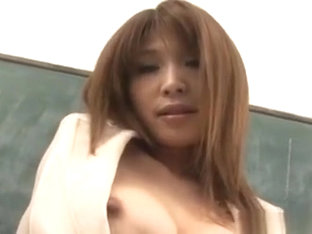 Ai Kurosawa Strips And Masturbates In Front Of Her Student