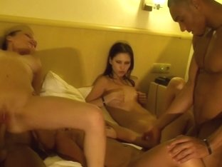 Margo & Aspen & Jocelyn in lustful orgy xxx video made in a hotel room