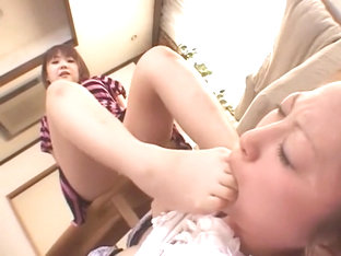 Exotic Japanese girl Aki Nagase, Leila Aisaki in Hottest Lesbian, Foot Fetish JAV video