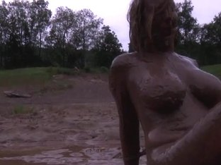 Gal humilated in the mud two