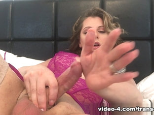 Tyra Scott Stroking In Pink - TransErotica