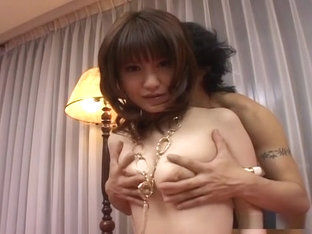 Sweet girl in fancy lingerie Misuzu Imai masturbates and cums