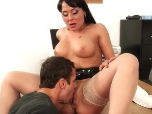 Alan and Mahina prepare their genitals for penetration
