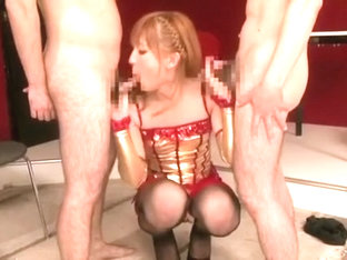 Incredible Japanese slut in Fabulous Blowjob, /Futanari JAV clip