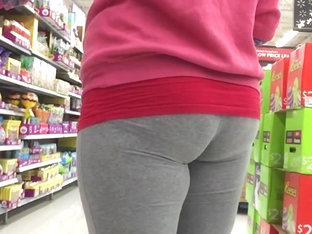 Juicy BBW PAWG college girl Leggings