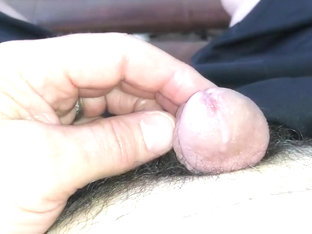 Closeup of my oozing cum