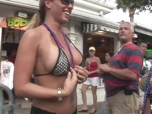So Many Girls Flashing their Tits and Pussies on the Streets of Key West Florida - SpringbreakLife