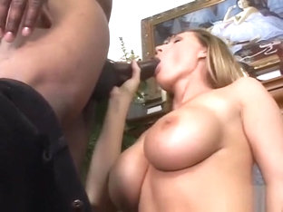Precious adult actress with huge boobs Devon Lee tries huge black dong
