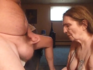 we are gettin old my stanama is low sucking off my mans cock