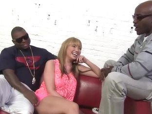 Maya Hills enjoys interracial gangbang
