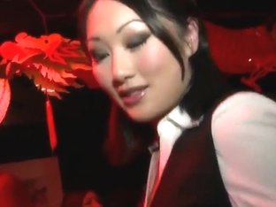Teen Asian curves demonstrate their bodies in the club