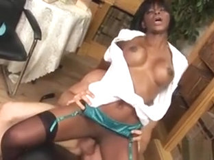 Ebony Angel Of Mercy Jasmine Webb Is Careful And Caring With