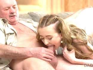 DADDY4K. Old daddy creampies son's new girlfriend after amazing sex