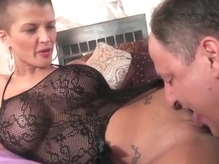 Joslyn James Sucking Cock In Fishnets