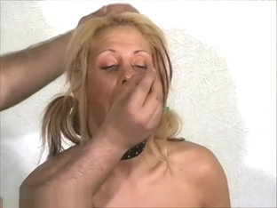 Slave Crystel Lei pussy punishment in gyno bdsm and bizarre needle pain of