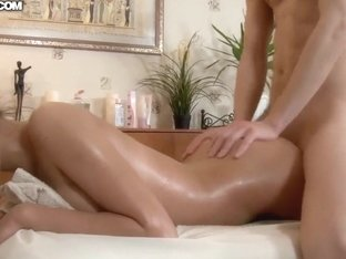 Teen hottie is pounded very hard after massage