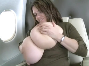 Milena in the Airplane