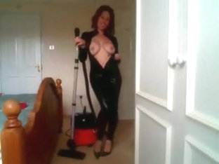 KH sucking away money in catsuit teasing the hell out of you