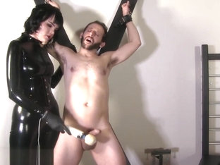 Slave made to eat ruined orgasm