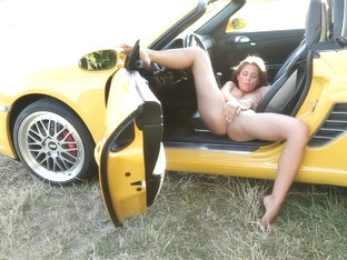 Little Caprice Sensual Masturbation In Her Porsche Boxster Sports Car