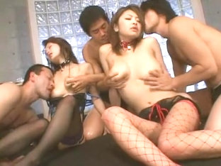 Hottest Japanese girl Megu Ayase in Horny Stockings, Big Tits JAV video