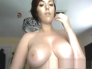 Brunette with huge boobs does group sex and fucks with dildo