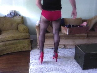 Crossdressed and jerking