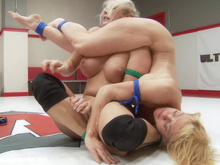 Two Gorgeous Blonds Go Tit To Tit In Extreme Competitive Wrestling - Publicdisgrace