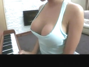 Down blouse huge Natural breasts