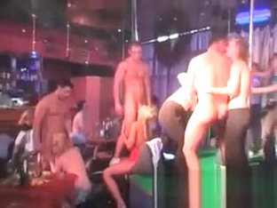 Brunette Chick Nailed At Cfnm Orgy