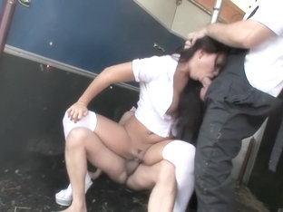 Outdoor group fuck at the farm