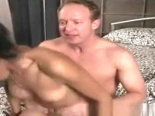 Ebony enchantress sucks his white prick and gets nailed by it