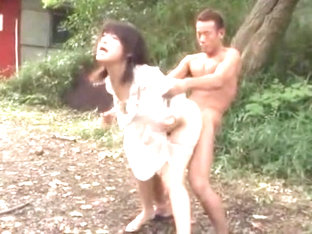 Horny Japanese whore Kyoka Mizusawa in Exotic Outdoor, Fingering JAV movie