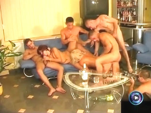 Hot Era And Nelli Enjoyed Sexy Party With Five Men